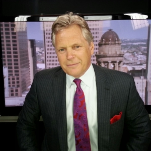 Jim Lacamp at the Fox Bureau in Dallas getting ready for his hit with Neil Cavuto on The Fox News Channel